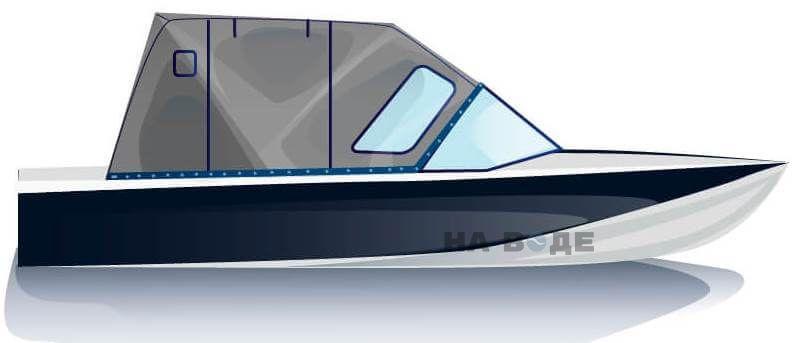 Ходовой тент на лодку Обь-М комплектация Комфорт - фото 1