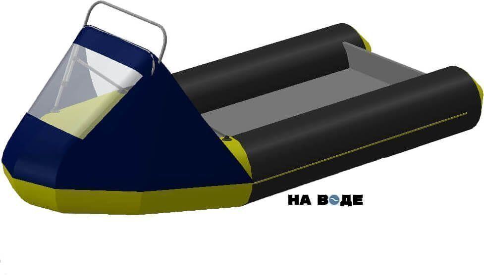 Носовой тент с таргой на лодку Лоцман М290 (Киль) - фото 4