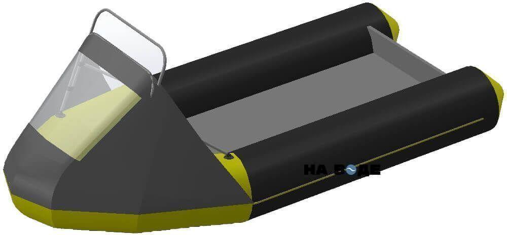 Носовой тент с таргой на лодку Лоцман М290 (Киль) - фото 7