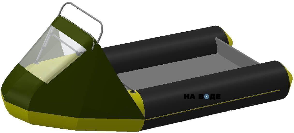Носовой тент с таргой на лодку Yamaran (Ямаран) RIBs B390R - фото 7