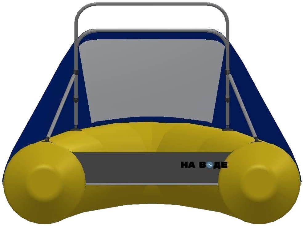 Носовой тент с таргой на лодку Фрегат М-430 FM Light Jet - фото 3