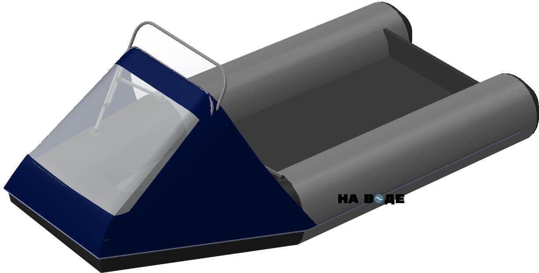 Носовой тент с таргой на лодку BRIG (Бриг) B-460HD - фото 2