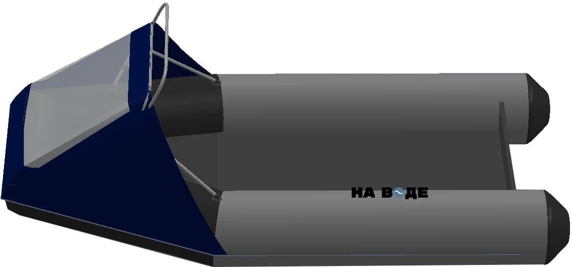Носовой тент с таргой на лодку Yukona (Юкона) 300 TLK - фото 4