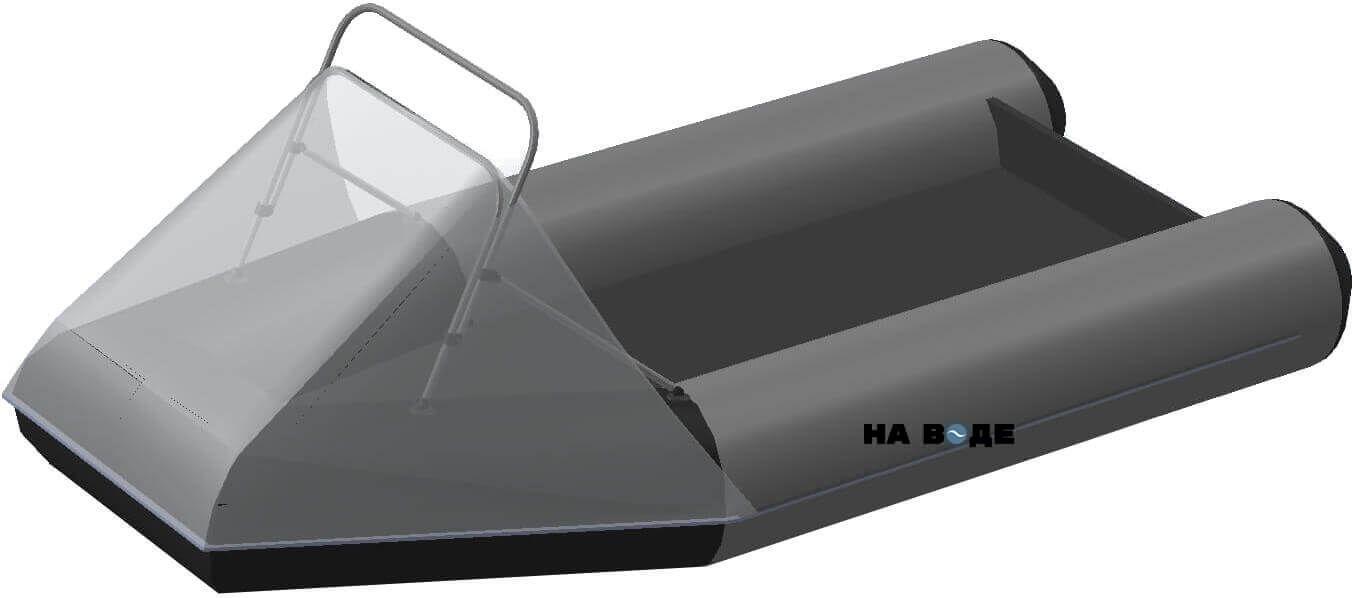 Носовой тент с таргой на лодку Flinc (Флинк) FT340KL - фото 6