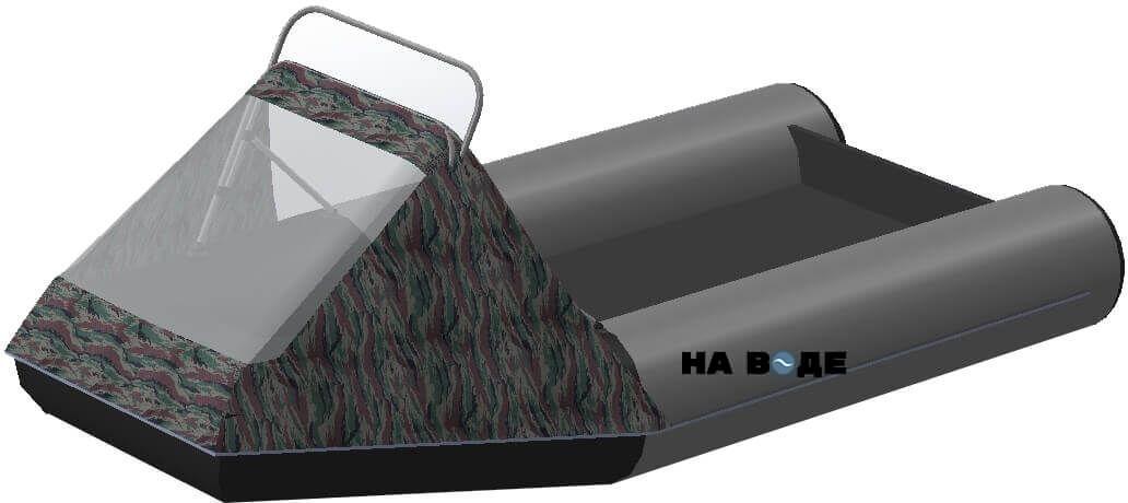 Носовой тент с таргой на лодку АКВА 2900 С - фото 7