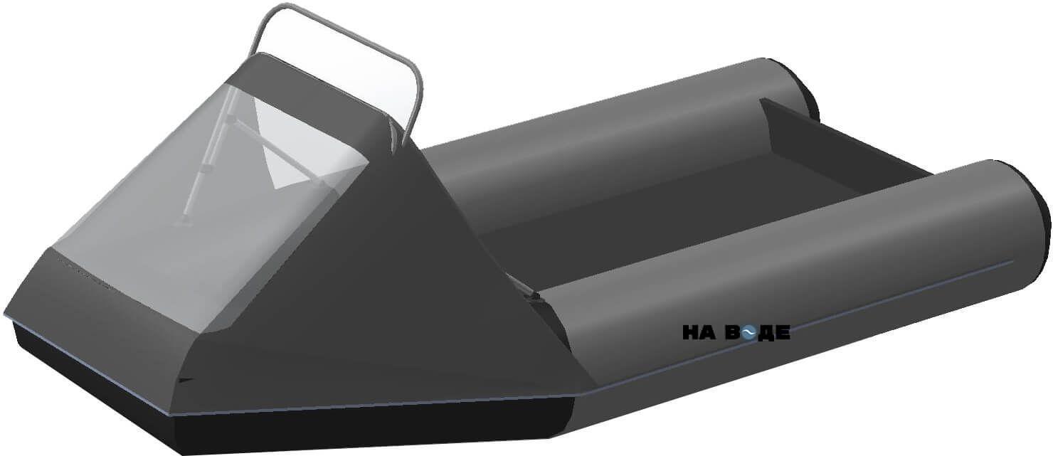 Носовой тент с таргой на лодку BRIG (Бриг) B-460HD - фото 8