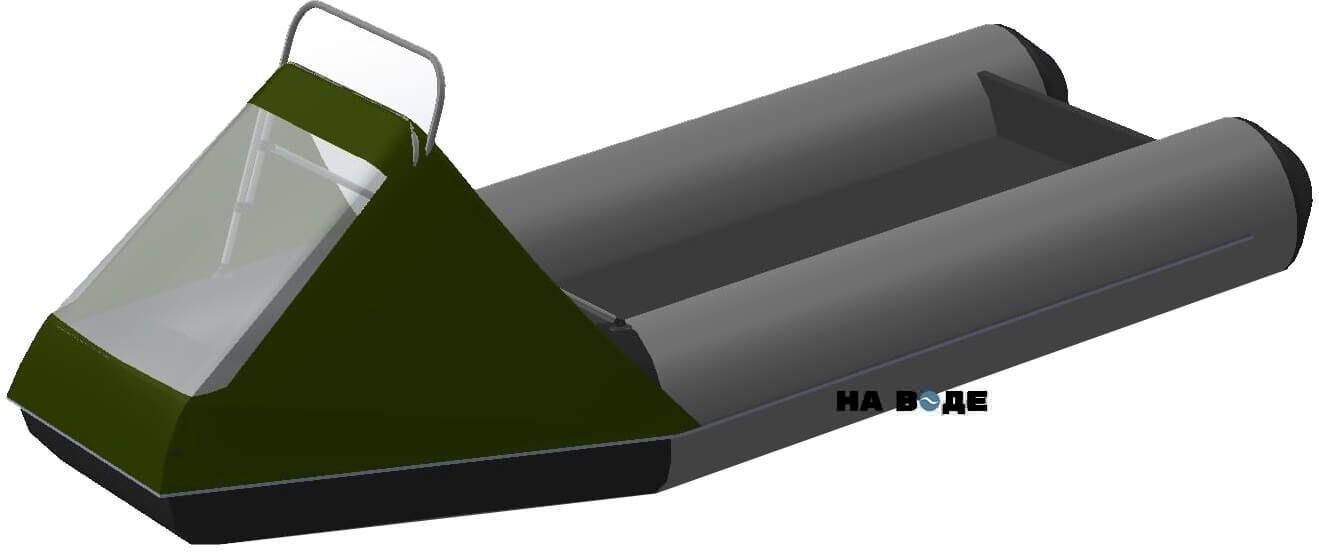 Носовой тент с таргой на лодку BRIG (Бриг) B-460HD - фото 9