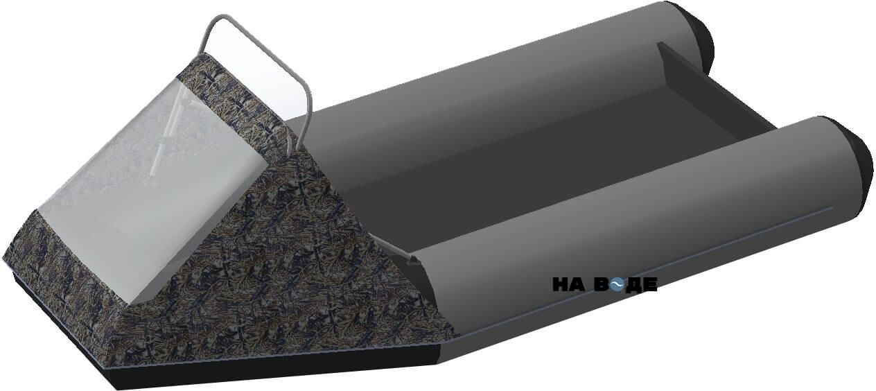 Носовой тент с таргой на лодку АКВА 2900 С - фото 6