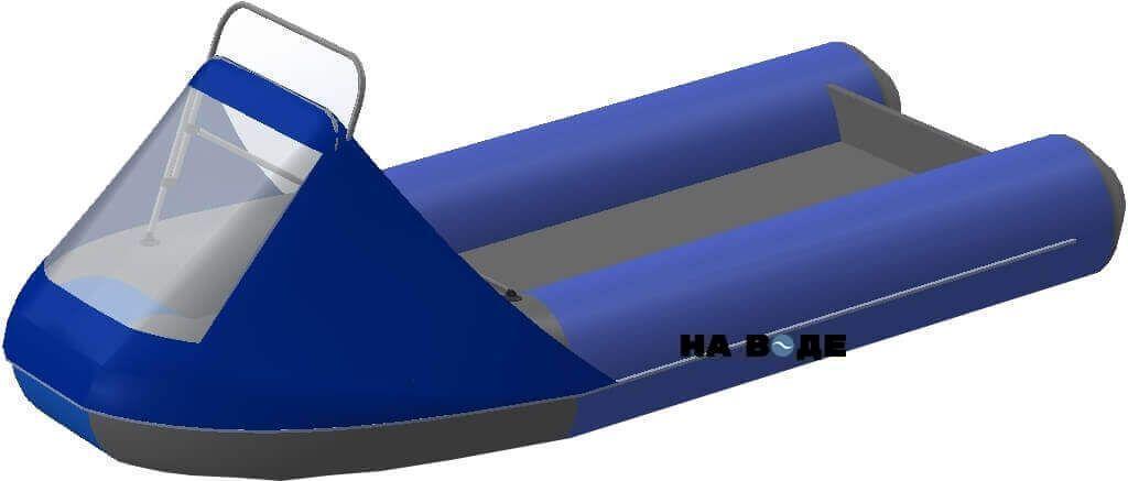 Носовой тент с таргой на лодку AZIMUT (Азимут) Classic 350 - фото 1