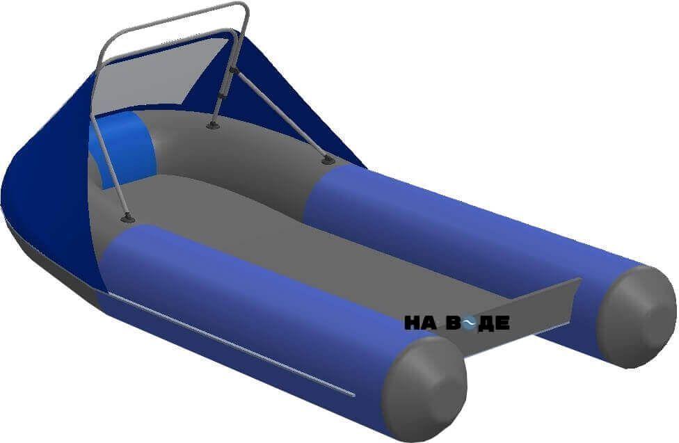 Носовой тент с таргой на лодку AZIMUT (Азимут) Classic 350 - фото 2