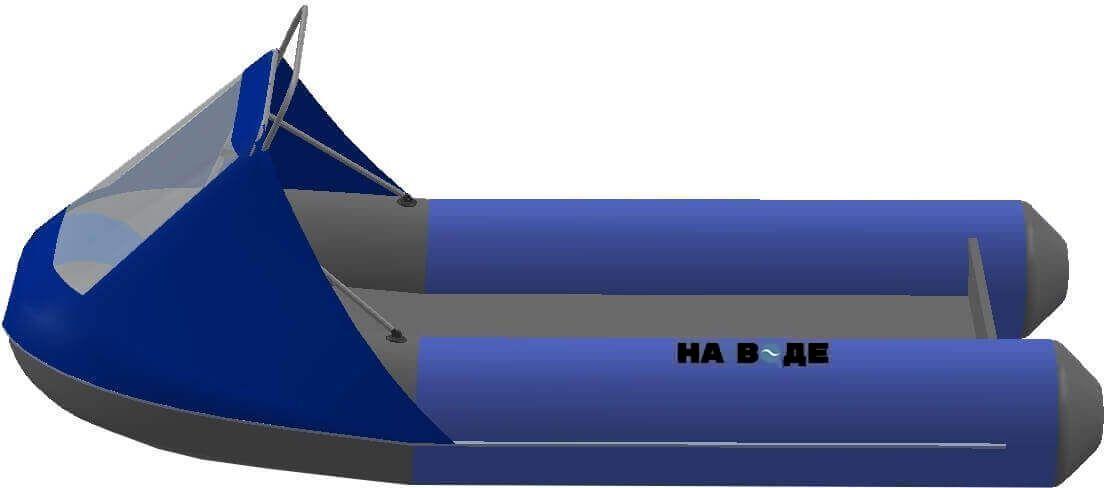 Носовой тент с таргой на лодку Ривьера 3200 НДНД - фото 3