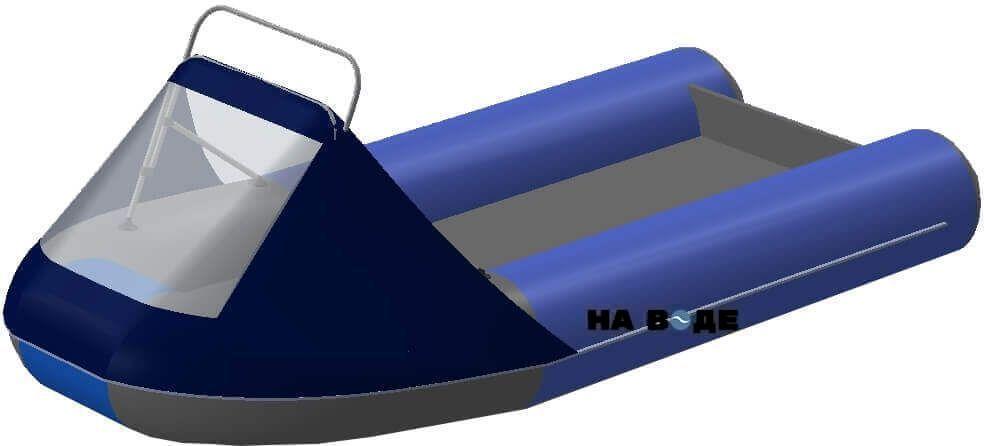 Носовой тент с таргой на лодку Ривьера 3200 НДНД - фото 5