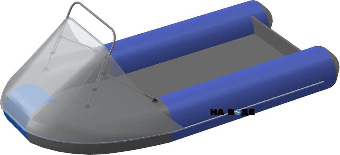 Носовой тент с таргой на лодку Ривьера 3200 НДНД - фото 6