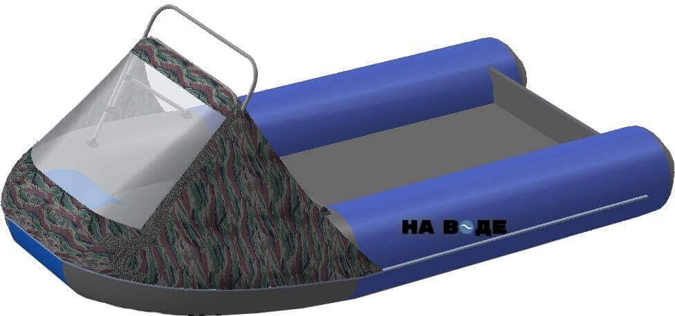 Носовой тент с таргой на лодку Ривьера 3200 НДНД - фото 7