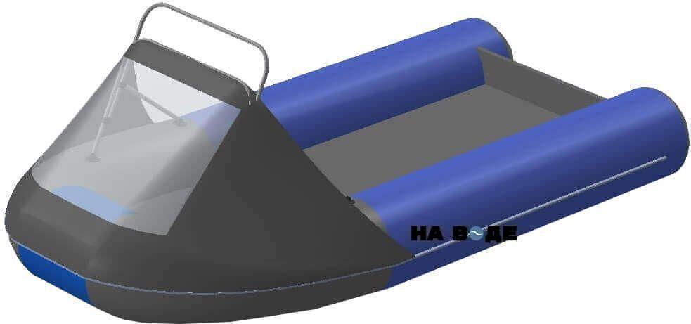 Носовой тент с таргой на лодку AZIMUT (Азимут) Classic 350 - фото 8