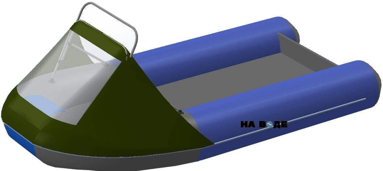 Носовой тент с таргой на лодку Ривьера 3200 НДНД - фото 9