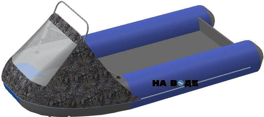 Носовой тент с таргой на лодку Ривьера 3200 НДНД - фото 10