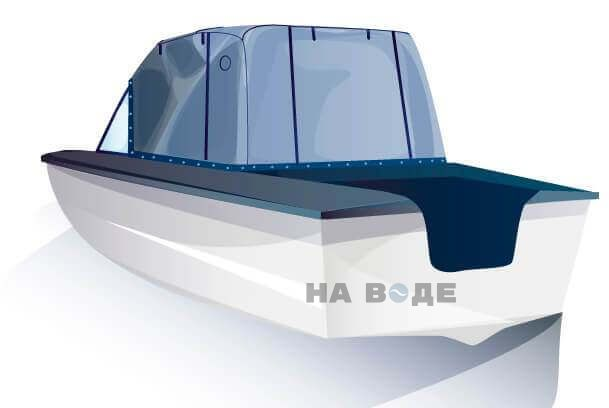 Ходовой тент на лодку Прогресс-2 комплектация Эконом - фото 3