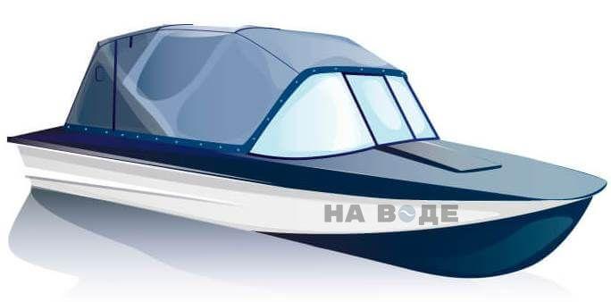 Ходовой тент на лодку Прогресс-2 комплектация Эконом - фото 2
