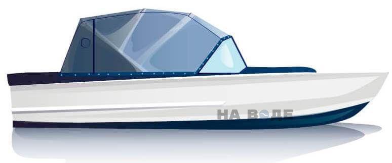 Ходовой тент на лодку Прогресс-2 комплектация Эконом - фото 1