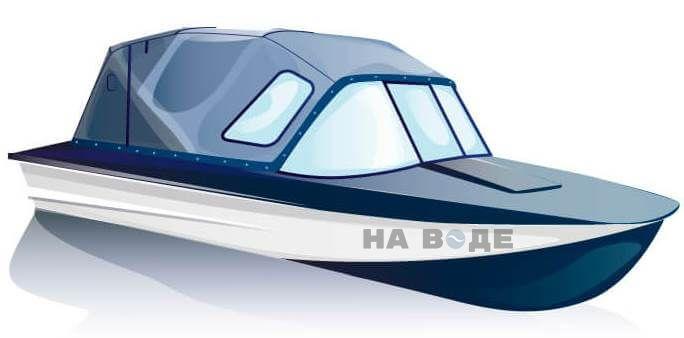 Ходовой тент на лодку Прогресс-2 комплектация Стандарт - фото 2