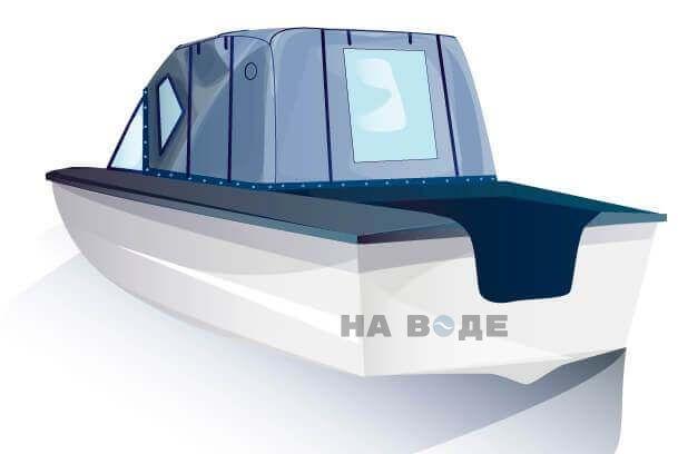 Ходовой тент на лодку Прогресс-2 комплектация Комфорт - фото 3