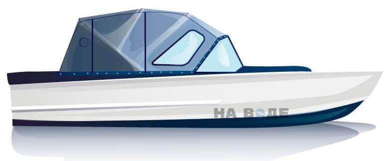 Ходовой тент на лодку Прогресс-2 комплектация Комфорт - фото 1