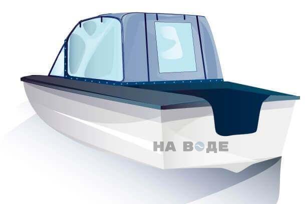 Ходовой тент на лодку Прогресс-2 комплектация Универсал - фото 3