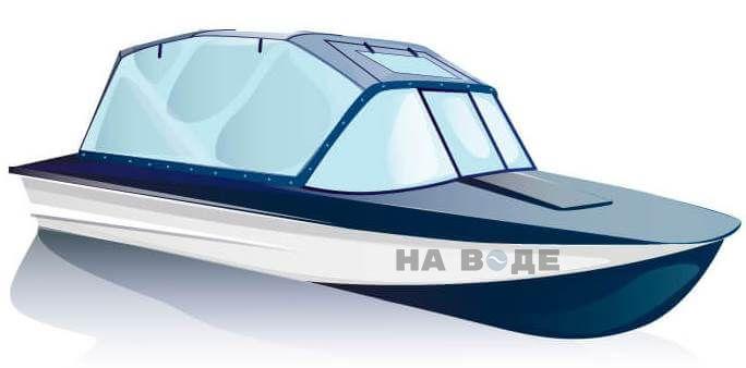 Ходовой тент на лодку Прогресс-2 комплектация Универсал - фото 2