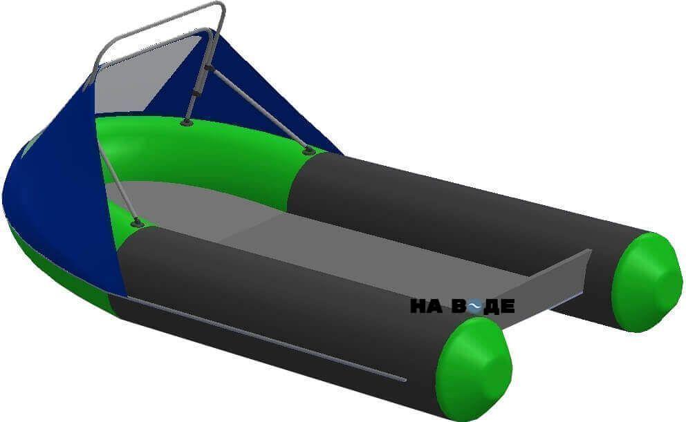 Носовой тент с таргой на лодку HYDRA (Гидра)-380 ПРО - фото 2