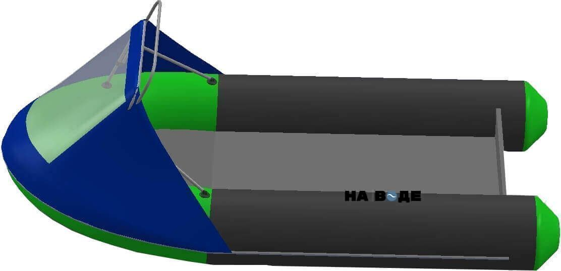 Носовой тент с таргой на лодку HYDRA (Гидра)-380 ПРО - фото 3