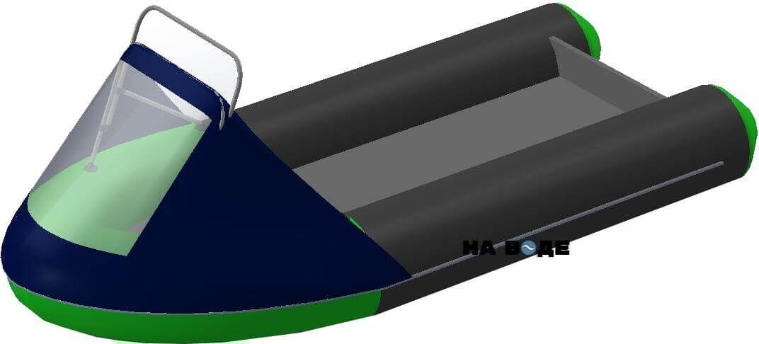 Носовой тент с таргой на лодку HYDRA (Гидра)-380 ПРО - фото 5