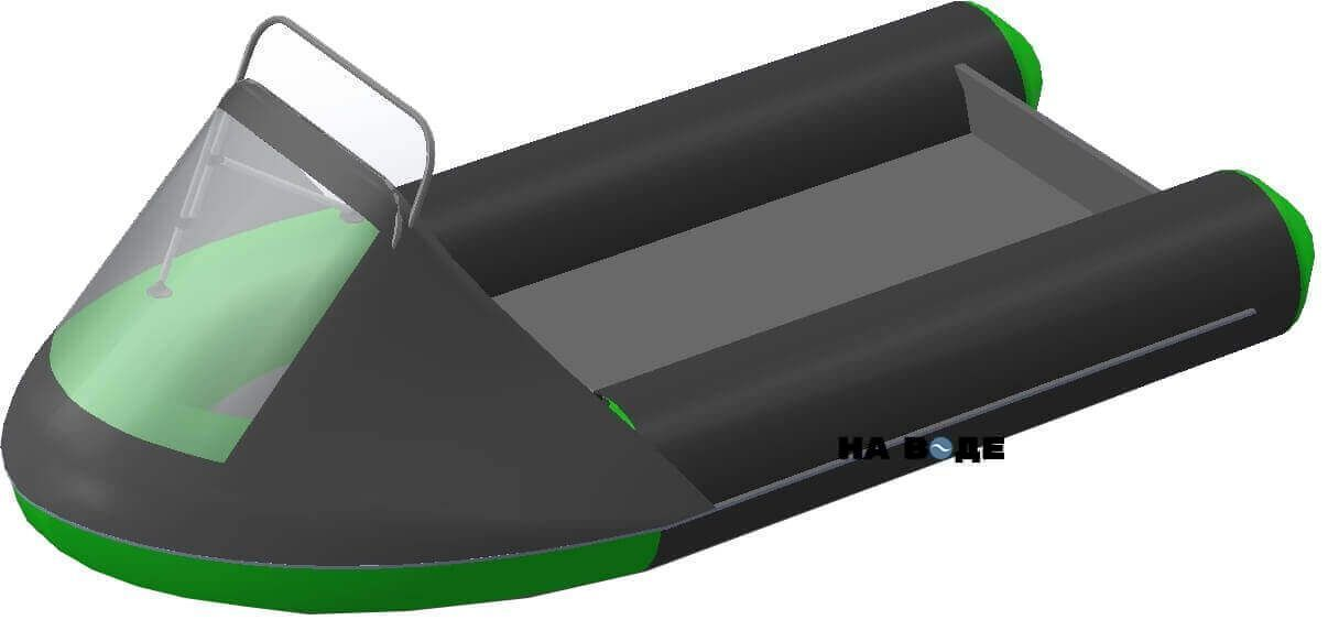 Носовой тент с таргой на лодку HYDRA (Гидра)-380 ПРО - фото 8