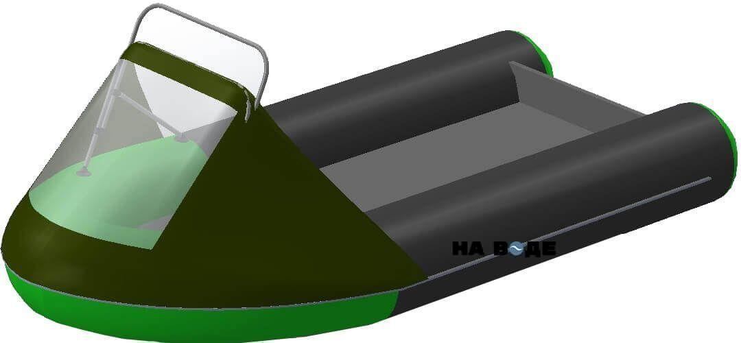 Носовой тент с таргой на лодку HYDRA (Гидра)-365 ПРО - фото 9