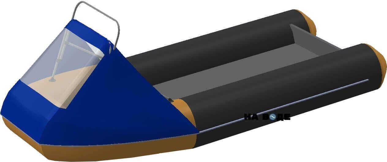Носовой тент с таргой на лодку Кайман N-380 - фото 1