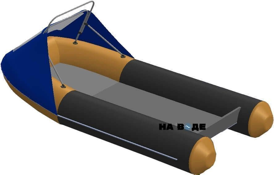 Носовой тент с таргой на лодку Кайман N-380 - фото 2