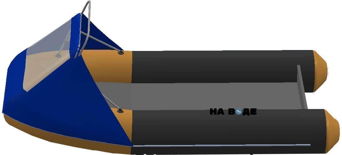 Носовой тент с таргой на лодку Quicksilver (Квиксильвер) Sport 240 - фото 3
