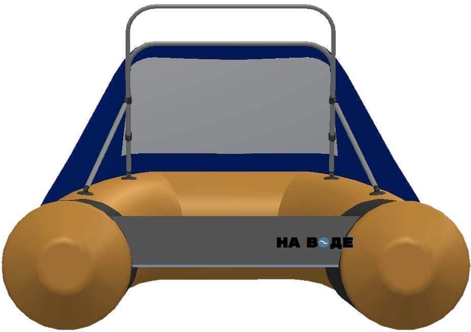 Носовой тент с таргой на лодку Quicksilver (Квиксильвер) Sport 240 - фото 4