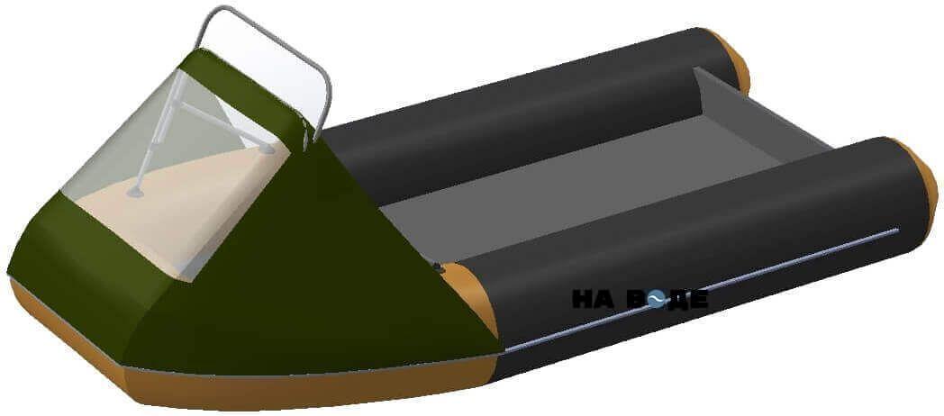 Носовой тент с таргой на лодку Quicksilver (Квиксильвер) Sport 240 - фото 9