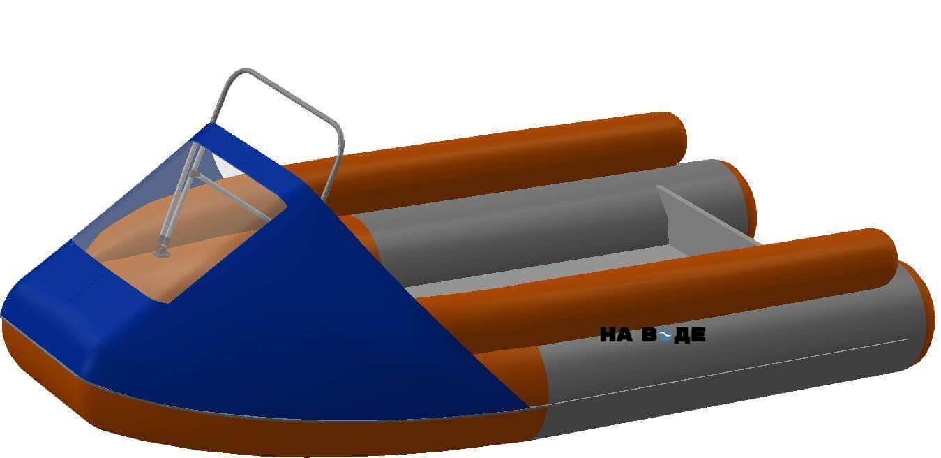 Носовой тент с таргой на лодку Абакан-380 JET - фото 1