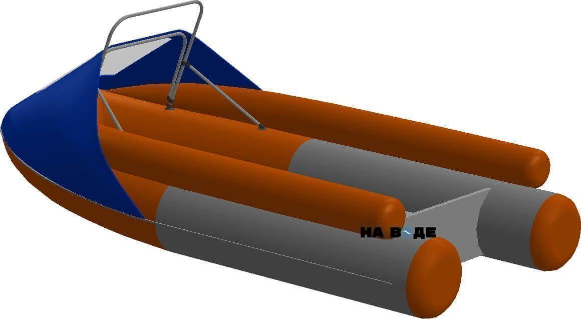 Носовой тент с таргой на лодку Абакан-380 JET - фото 2