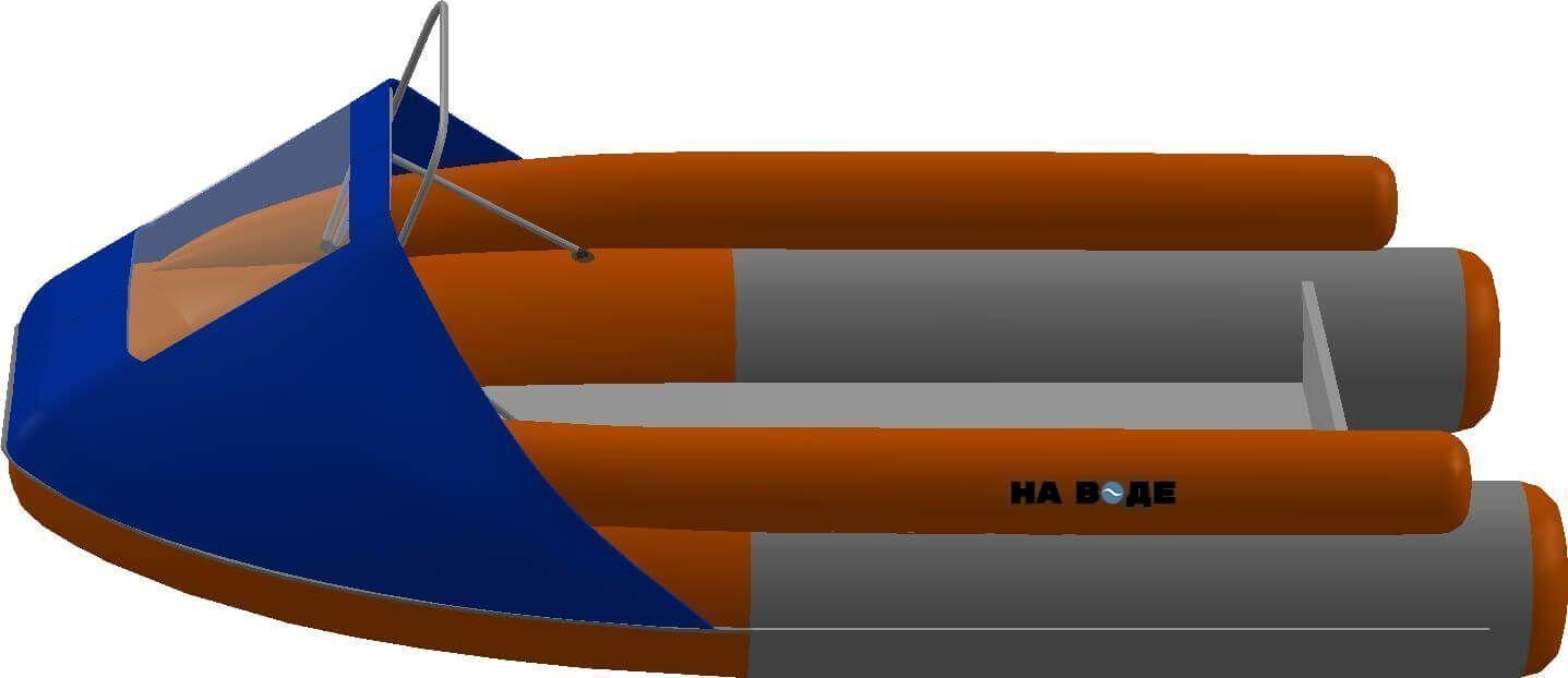 Носовой тент с таргой на лодку Фрегат M-370 FM Lux - фото 3