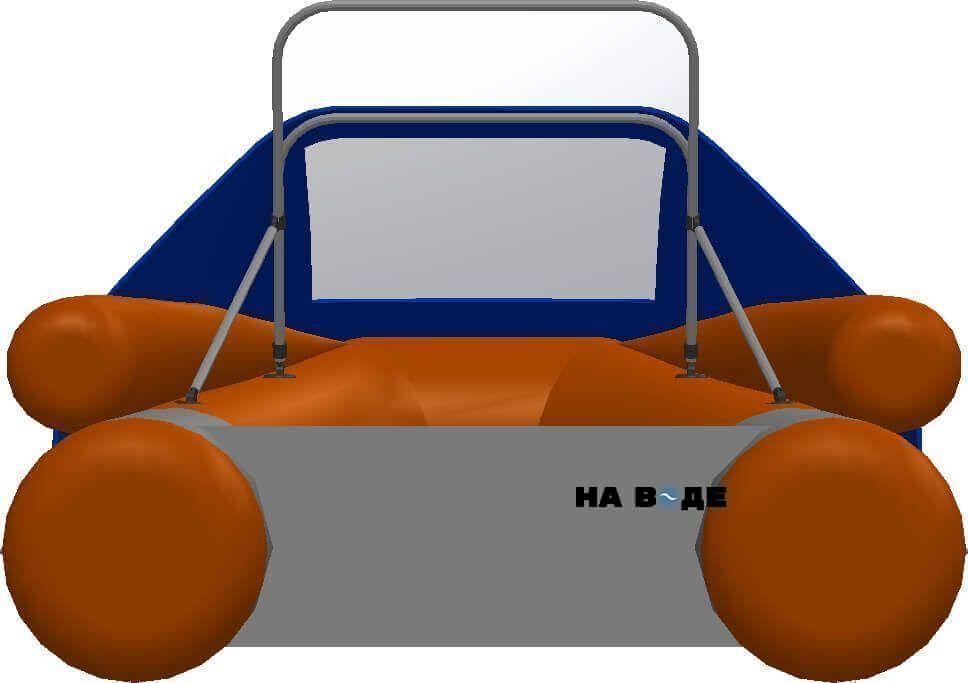 Носовой тент с таргой на лодку Фрегат M-370 FM Lux - фото 4