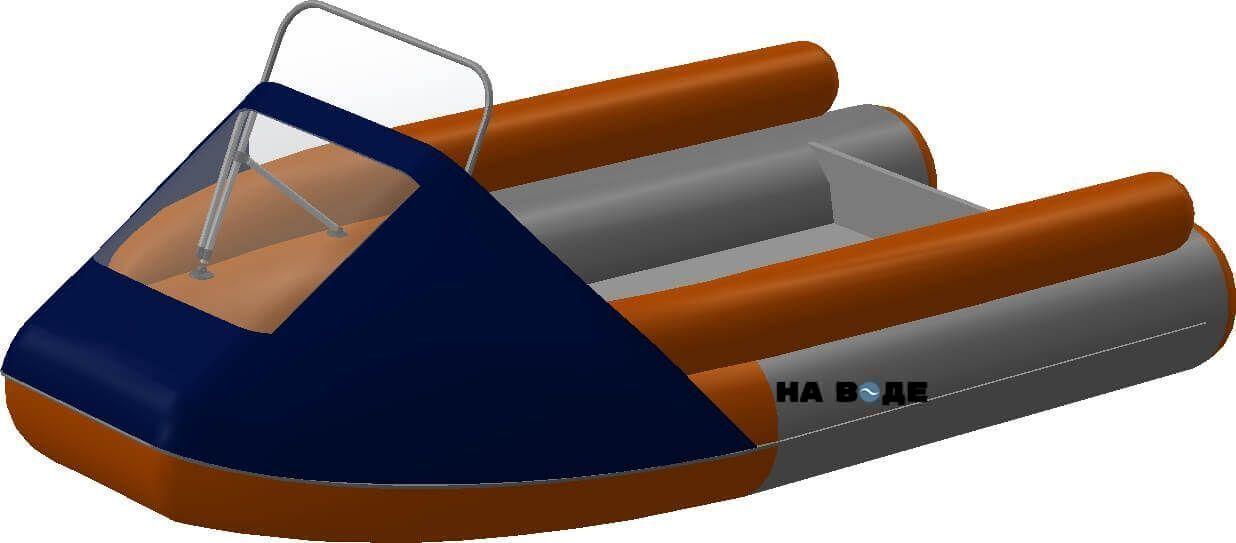 Носовой тент с таргой на лодку Фрегат M-370 FM Lux - фото 5