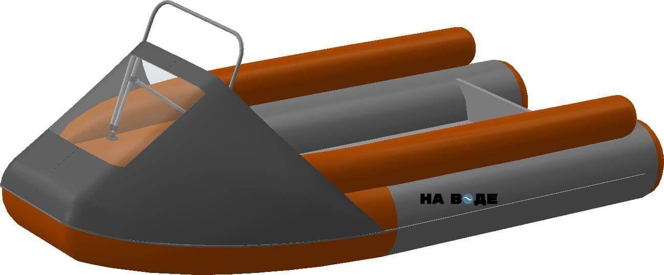 Носовой тент с таргой на лодку Абакан-380 JET - фото 6