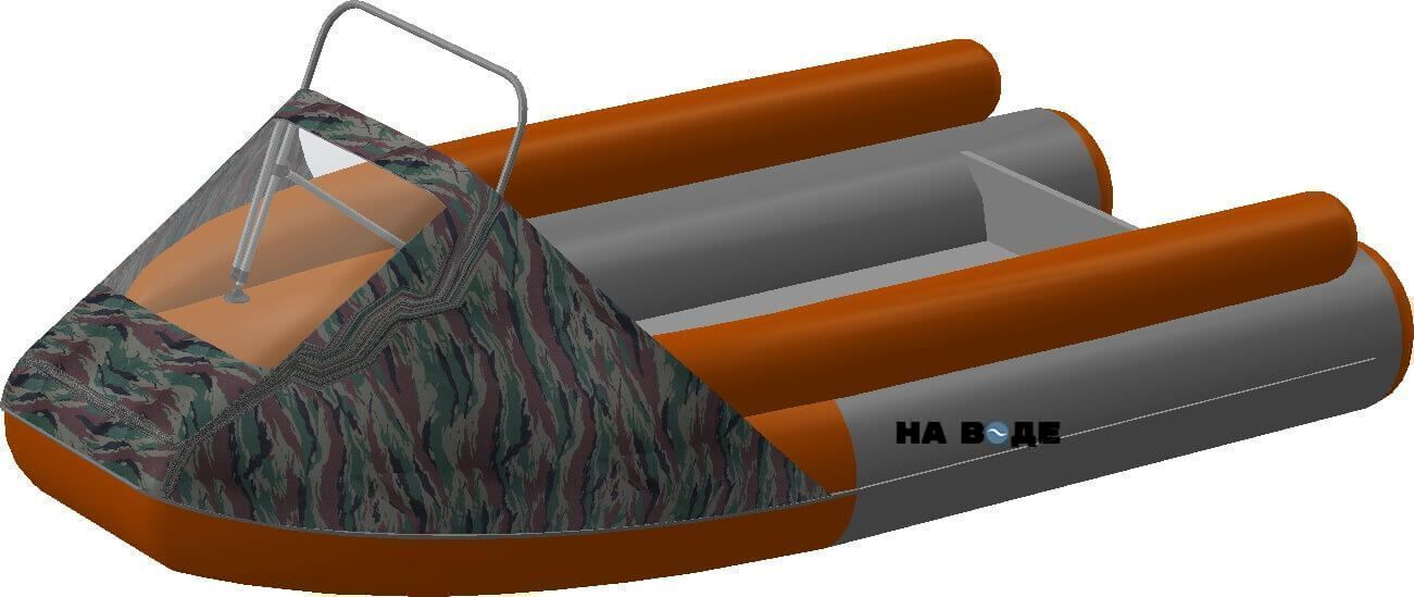 Носовой тент с таргой на лодку Абакан-380 JET - фото 7
