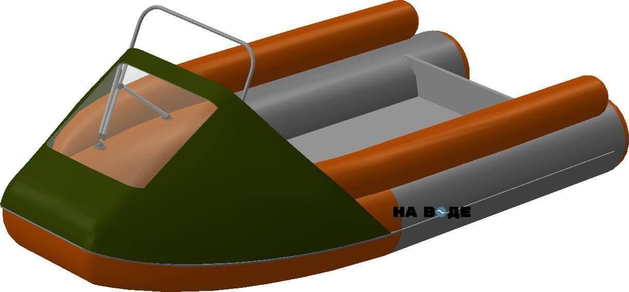 Носовой тент с таргой на лодку Абакан-380 JET - фото 8