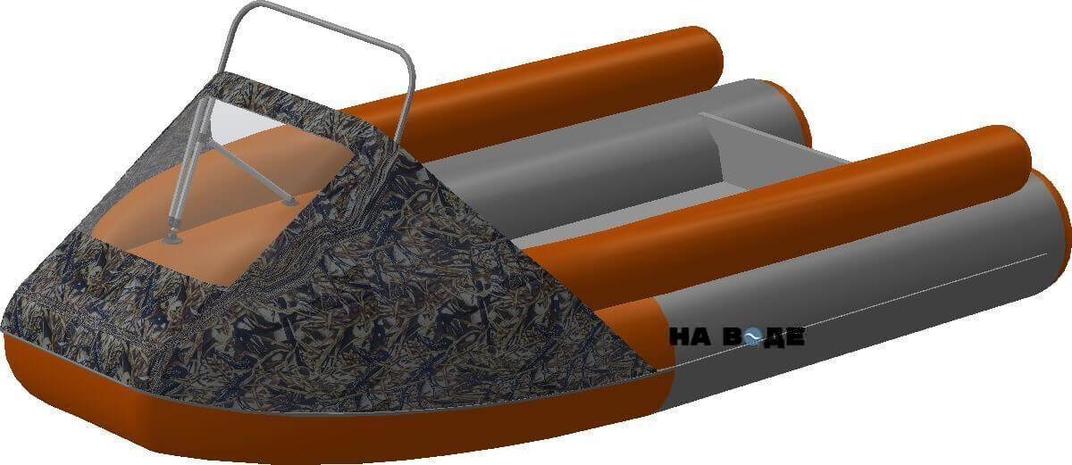 Носовой тент с таргой на лодку Фрегат M-370 FM Lux - фото 9