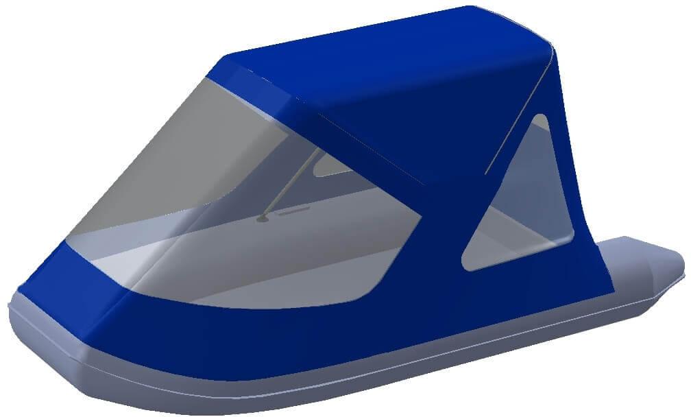 Тент трансформер на лодку AZIMUT (Азимут) Vector 340 - фото 1