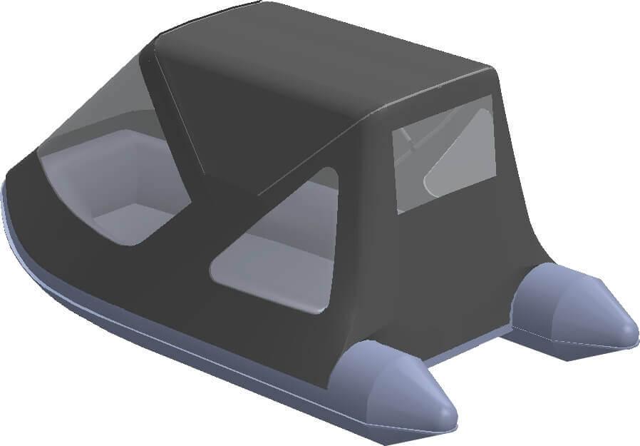 Тент трансформер на лодку AZIMUT (Азимут) Vector 340 - фото 6